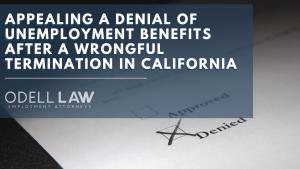 appeal unemployment