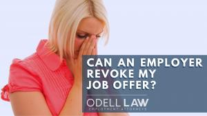 revoke job offer