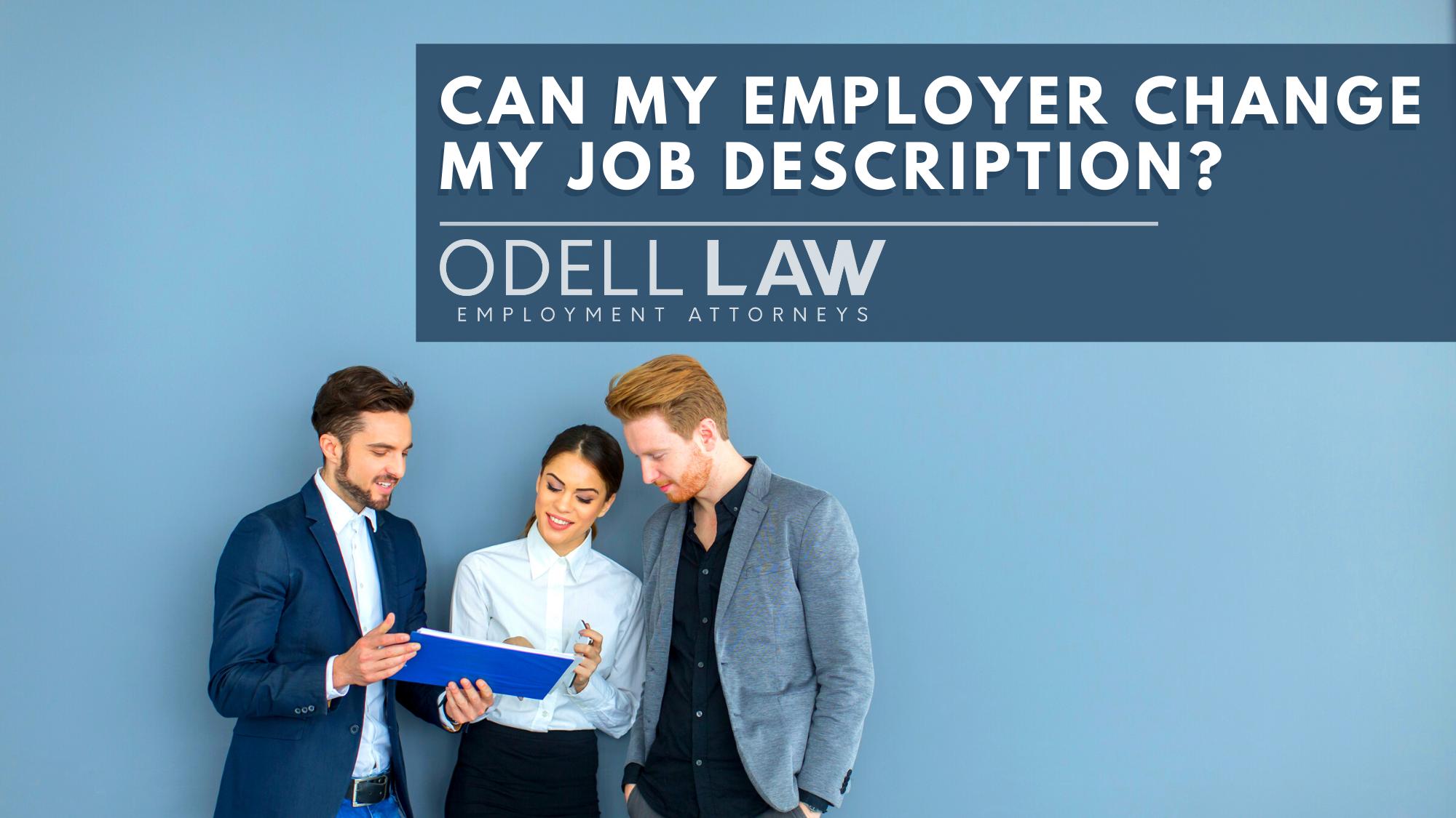change job description